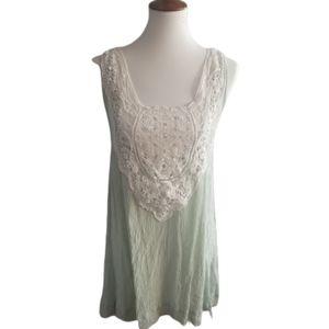 || TOBI || Small Mint Green Rayon Mini Dress